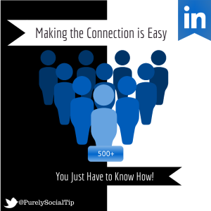 making the connecion - Linkedin