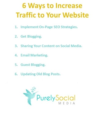 6 ways to increase traffic to your website checklist